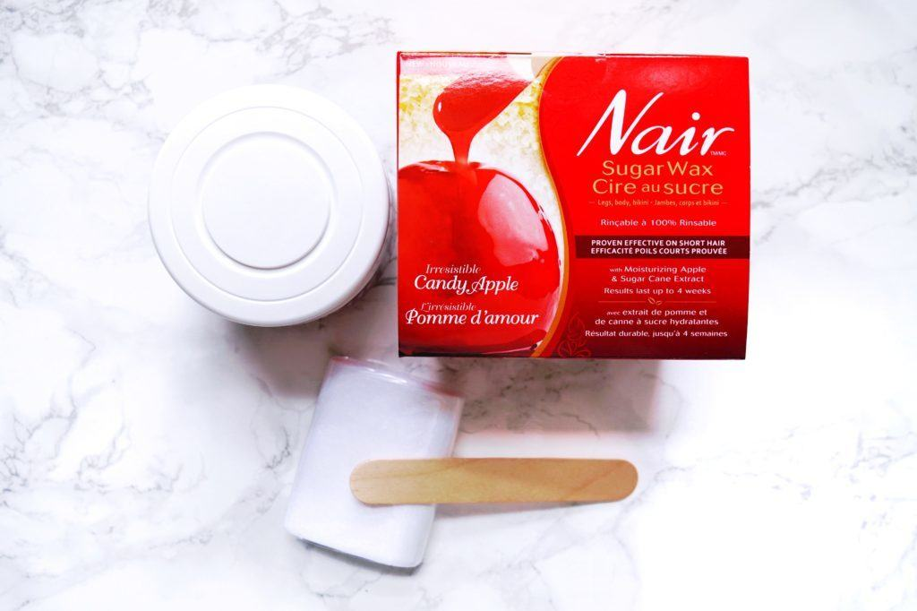 Nairs Sugar Wax review by the one and only Andrea Ewanishan! Calgary lifestyle blog.