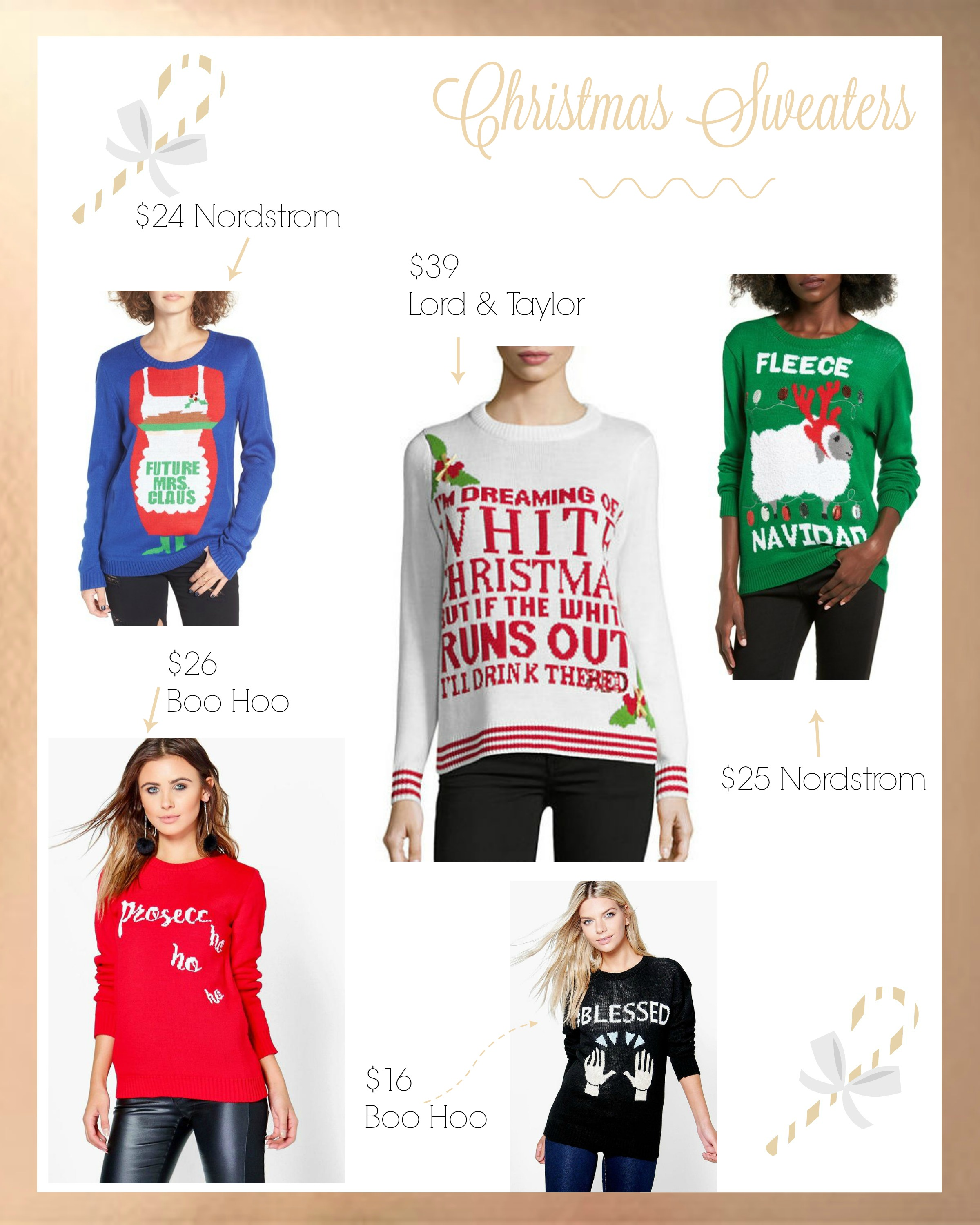 NINTH DAY OF BLOGMAS: Ugly Christmas Sweater   Drea Marie Blog