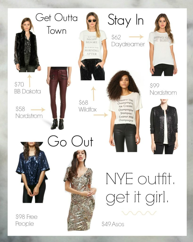 Calgary lifestyle blogger Drea Marie shares her NYE outfit suggestions and a quick reflection on last years resolutions.