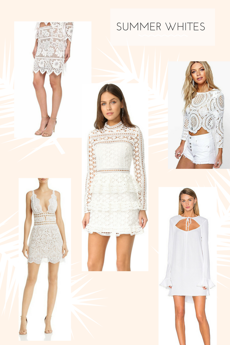 Drea Marie shares her FAV Summer whites for bride to be's and anyone looking for a flirty summer party white outfit.