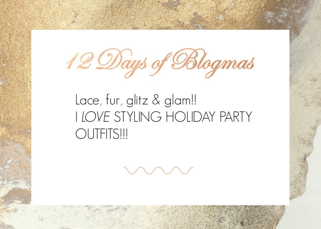 Calgary based blog shares her favorite holiday party outfit. We're chatting lace, fur, red, white, black & of course glam.